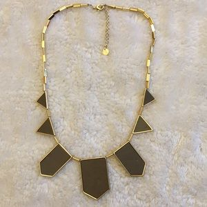 House of Harlow grey station gold necklace